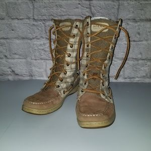 Sperry Topsider Plain Sequin Lined Boots